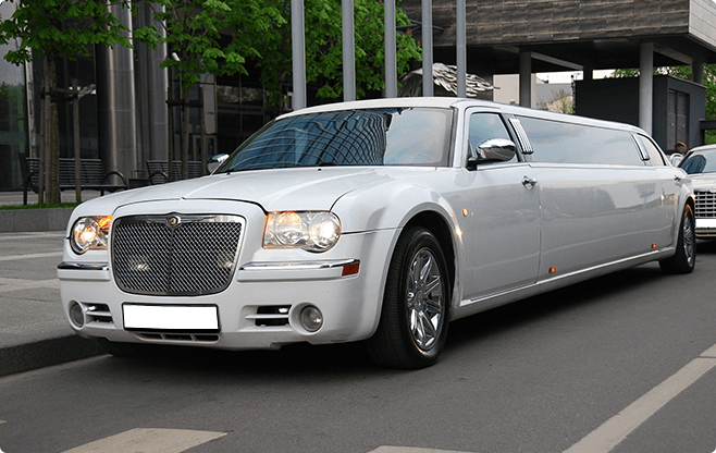 Sofia Limousines - Chrysler 300C Super Stretch - Front View
